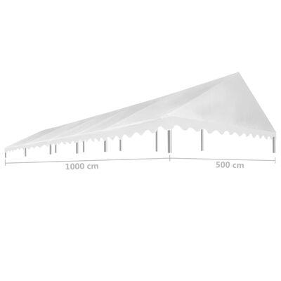 vidaXL peotelgi katus 5 x 10 m, valge, 450 g/m²