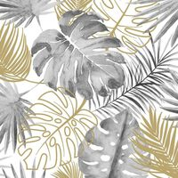 DUTCH WALLCOVERINGS tapeet, monstera lehed, must