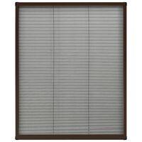 vidaXL plisseeritud putukavõrk aknale, alumiinium, pruun 60 x 80 cm