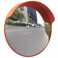 Kumer liikluspeegel, PC plast, oranž, 45 cm, õue