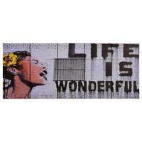 vidaXL seinamaalikomplekt lõuendil, Wonderful, värviline, 200 x 80 cm