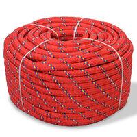 vidaXL paadiköis polüpropüleenist 12 mm, 250 m, punane