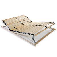 vidaXL lippidega voodi aluspõhi, 28 liistu, 7 piirkonda, 120 x 200 cm