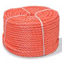 vidaXL punutud paadiköis polürpopüleenist 12 mm, 100 m, oranž