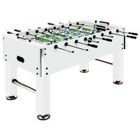 vidaXL lauajalgpalli laud, teras, 60 kg, 140 x 74,5 x 87,5 cm, valge