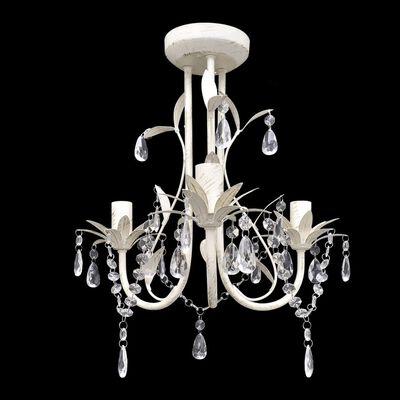vidaXL kristallist rippvalgusti-lühter 2 tk elegantne, valge,