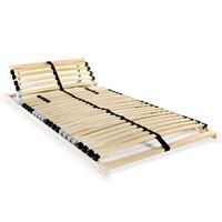 vidaXL voodi aluspõhi, 28 liistu, 7 piirkonda, 80 x 200 cm