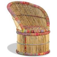 vidaXL bambustool Chindi detailidega