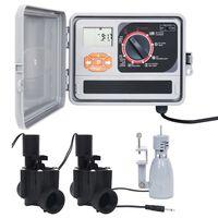 vidaXL kastmise kontrollseade vihmaanduri ja solenoidventiiliga