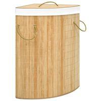 vidaXL bambusest nurga pesukorv, 60 l