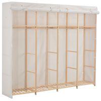 vidaXL garderoob, valge, 200 x 40 x 170 cm, kangas