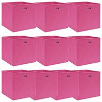 vidaXL hoiukastid 10 tk, roosa, 32 x 32 x 32 cm, kangas