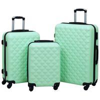 vidaXL kõvakattega kohver 3 tk mündiroheline ABS