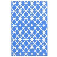 vidaXL õuevaip, sinine ja valge, 190 x 290 cm, PP
