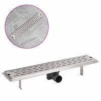 vidaXLi lineaarne duši äravoolusüsteem 630 x 140 mm roostevaba teras