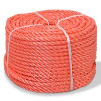 vidaXL punutud paadiköis polüpropüleenist 12 mm, 250 m, oranž