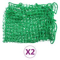 vidaXL koormavõrgud, 2 tk, 1,5 x 2,2 m PP