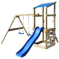 vidaXL mängumajakomplekt redeli, liumäe ja kiikedega 290 x 260 x 235 cm